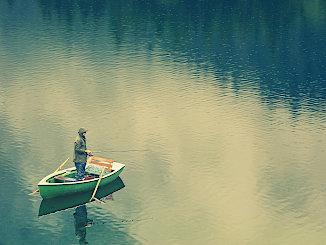 Vom Boot angeln